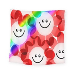 Happy Flowers Square Tapestry (small)