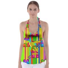 Holiday Gifts Babydoll Tankini Top