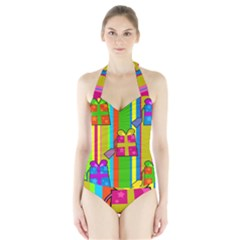 Holiday Gifts Halter Swimsuit