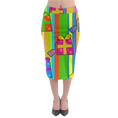 Holiday Gifts Midi Pencil Skirt