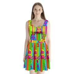 Holiday Gifts Split Back Mini Dress