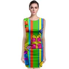 Holiday Gifts Sleeveless Velvet Midi Dress