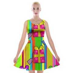 Holiday Gifts Velvet Skater Dress