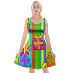 Holiday Gifts Reversible Velvet Sleeveless Dress