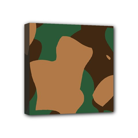 Military Camouflage Mini Canvas 4  x 4