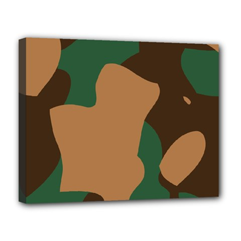 Military Camouflage Canvas 14  x 11