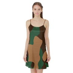 Military Camouflage Satin Night Slip