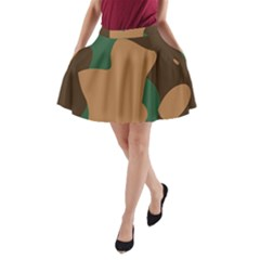 Military Camouflage A-Line Pocket Skirt