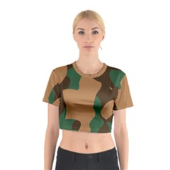 Military Camouflage Cotton Crop Top