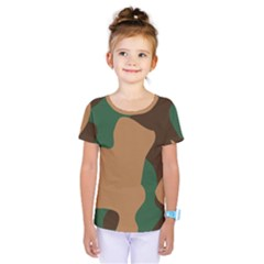 Military Camouflage Kids  One Piece Tee