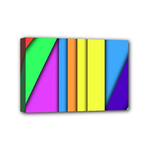 More Color Abstract Pattern Mini Canvas 6  x 4