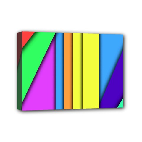 More Color Abstract Pattern Mini Canvas 7  x 5