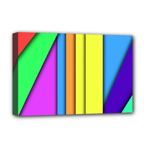 More Color Abstract Pattern Deluxe Canvas 18  x 12