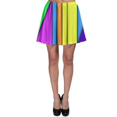 More Color Abstract Pattern Skater Skirt