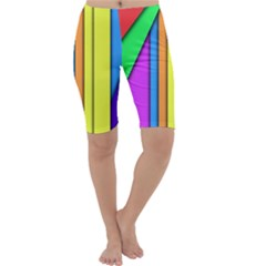 More Color Abstract Pattern Cropped Leggings