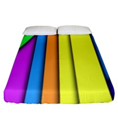 More Color Abstract Pattern Fitted Sheet (king Size)