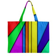 More Color Abstract Pattern Zipper Mini Tote Bag