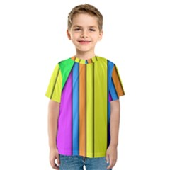 More Color Abstract Pattern Kids  Sport Mesh Tee