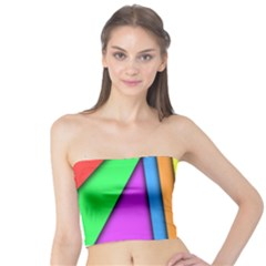 More Color Abstract Pattern Tube Top