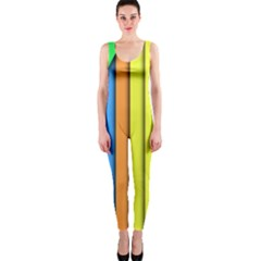 More Color Abstract Pattern OnePiece Catsuit