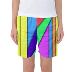 More Color Abstract Pattern Women s Basketball Shorts