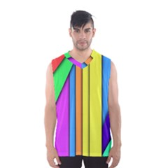 More Color Abstract Pattern Men s Basketball Tank Top