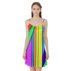 More Color Abstract Pattern Satin Night Slip