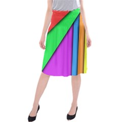 More Color Abstract Pattern Midi Beach Skirt