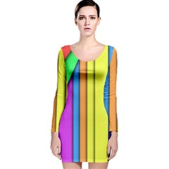 More Color Abstract Pattern Long Sleeve Velvet Bodycon Dress