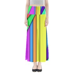 More Color Abstract Pattern Maxi Skirts