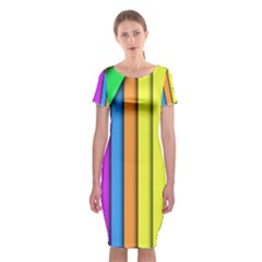 More Color Abstract Pattern Classic Short Sleeve Midi Dress