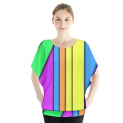 More Color Abstract Pattern Blouse