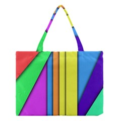 More Color Abstract Pattern Medium Tote Bag