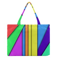 More Color Abstract Pattern Medium Zipper Tote Bag