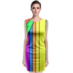 More Color Abstract Pattern Sleeveless Velvet Midi Dress