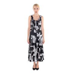 Noise Texture Graphics Generated Sleeveless Maxi Dress