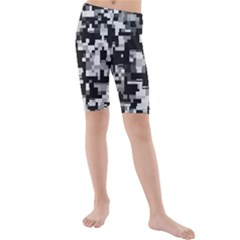 Noise Texture Graphics Generated Kids  Mid Length Swim Shorts