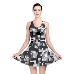 Noise Texture Graphics Generated Reversible Skater Dress