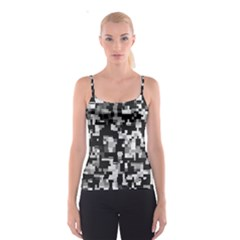 Noise Texture Graphics Generated Spaghetti Strap Top