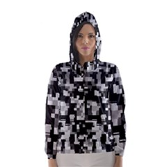 Noise Texture Graphics Generated Hooded Wind Breaker (Women)