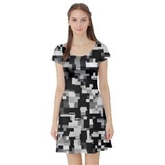Noise Texture Graphics Generated Short Sleeve Skater Dress