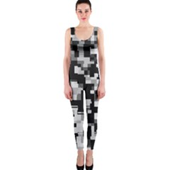 Noise Texture Graphics Generated OnePiece Catsuit