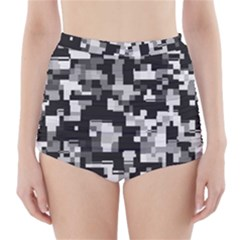Noise Texture Graphics Generated High-Waisted Bikini Bottoms