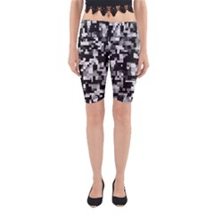 Noise Texture Graphics Generated Yoga Cropped Leggings