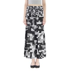 Noise Texture Graphics Generated Maxi Skirts