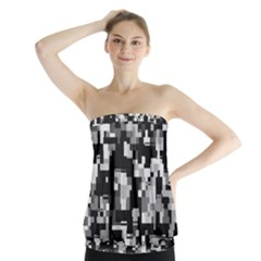 Noise Texture Graphics Generated Strapless Top