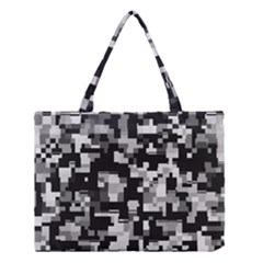 Noise Texture Graphics Generated Medium Tote Bag