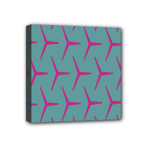Pattern Background Structure Pink Mini Canvas 4  x 4