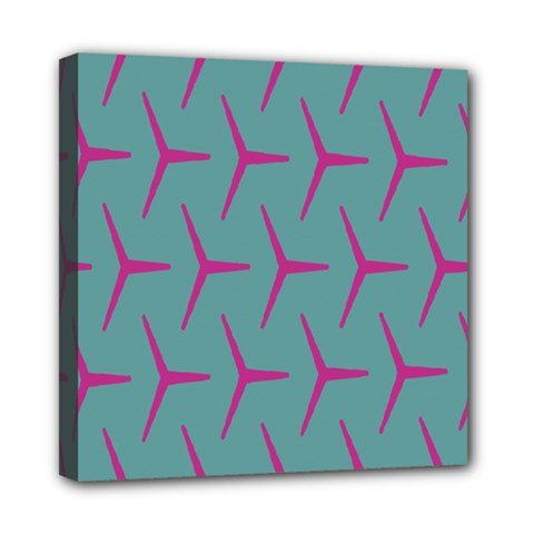 Pattern Background Structure Pink Mini Canvas 8  x 8