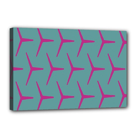 Pattern Background Structure Pink Canvas 18  x 12